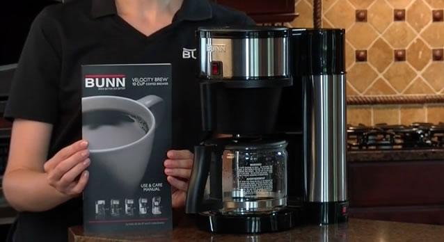 Bunn Velocity Brew coffee maker setup complete