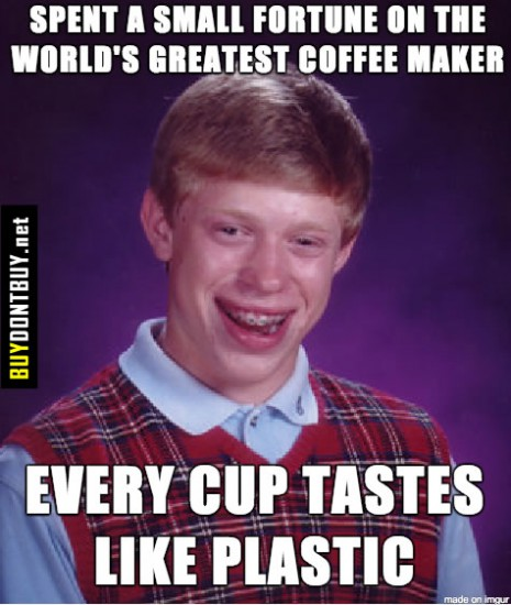 Get rid of plastic taste in coffee maker