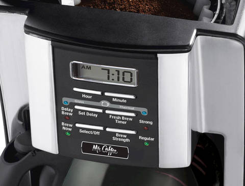 Mr. Coffee coffee maker control panel
