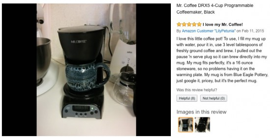 Mr. Coffee 4 cup coffee maker review DRX5, cheap coffee maker