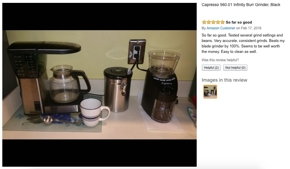 review of arabica capresso conical grinder burr infinity o house
