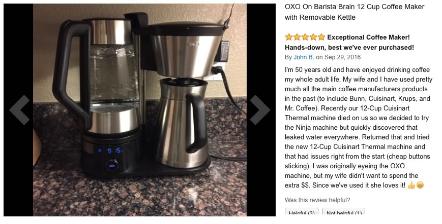 IN BOX OXO On Barista Brain 12 Cup Coffee Maker with Removable Kettle