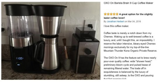 scaa certified coffee makers OXO On Barista Brain