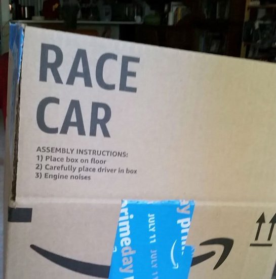Amazon race car box