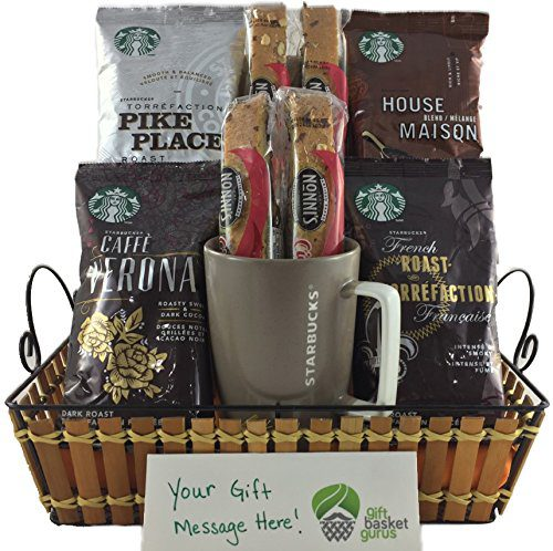 gifts for coffee lovers starbucks gift basket