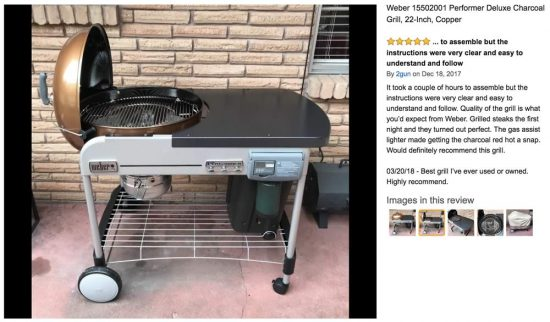 weber grill review weber performer deluxe charcoal grill review grill buying guide