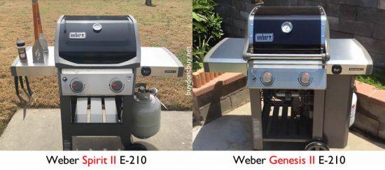 weber spirit vs. genesis with propane tanks
