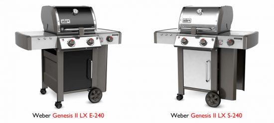 weber spirit vs. genesis II lx grill features