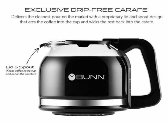 bunn heat n brew sca certified coffee maker drip-free carafe