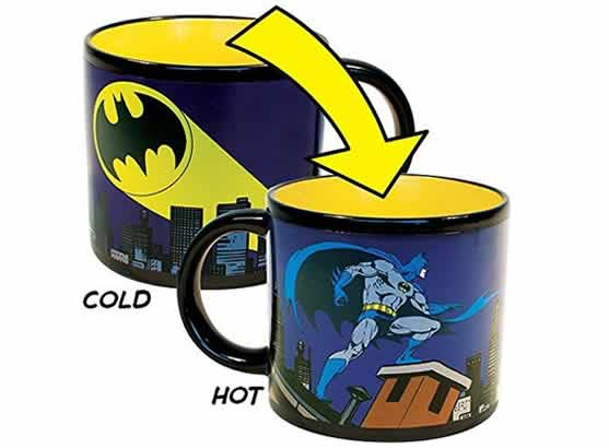 heat changing coffee mugs heat sensitive coffee mugs batman
