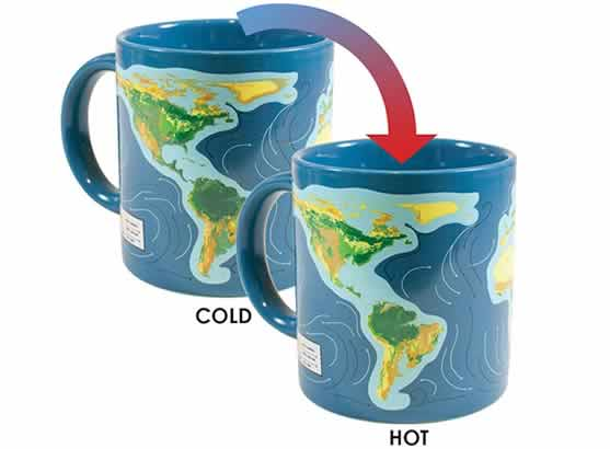 heat changing coffee mugs heat sensitive coffee mugs climate change