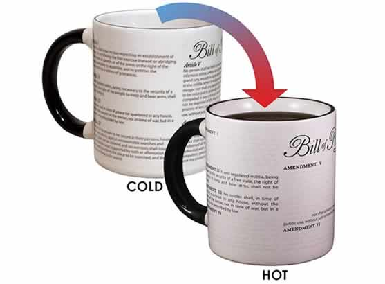 heat changing coffee mugs heat sensitive coffee mugs civil liberties funny