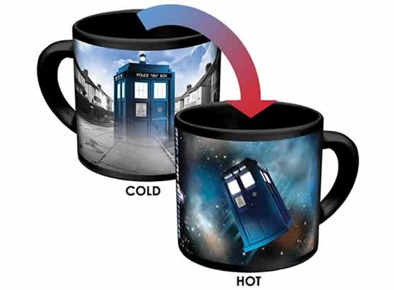heat changing coffee mugs heat sensitive coffee mugs doctor who tardis