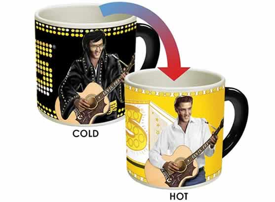 heat changing coffee mugs heat sensitive coffee mugs elvis presley las vegas memphis