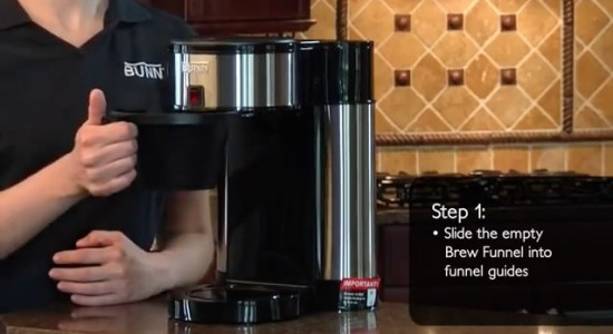 Bunn Velocity Brew coffee maker step 1