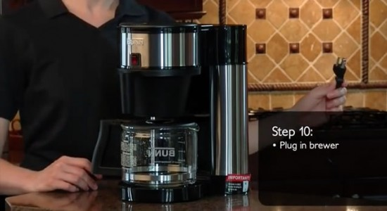 Bunn Velocity Brew coffee maker step 10