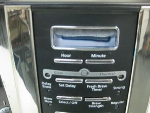 Mr. Coffee coffee maker clock condensation