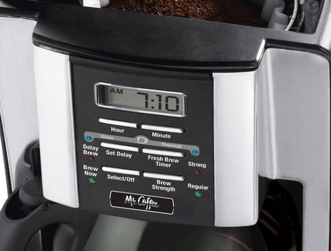Mr. Coffee coffee maker control panel