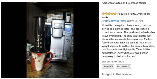 Review of the Aeropress coffee maker and espresso maker