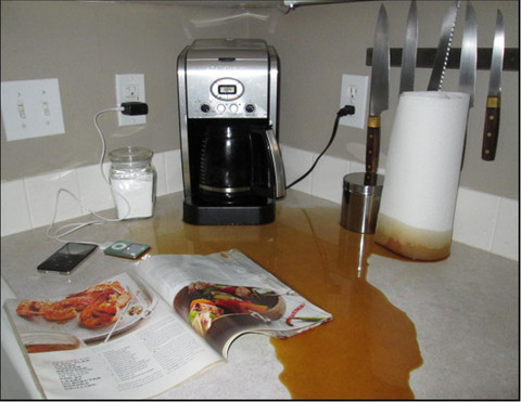Coffee maker overflowing