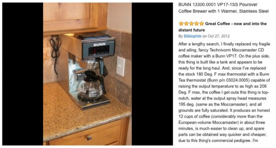 Is the Bunn VP-17 the best coffee maker in the world?