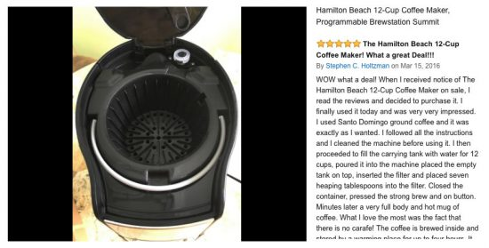 Review of Hamilton Beach Brewstation