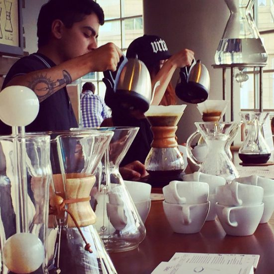 chemex coffee maker baristas