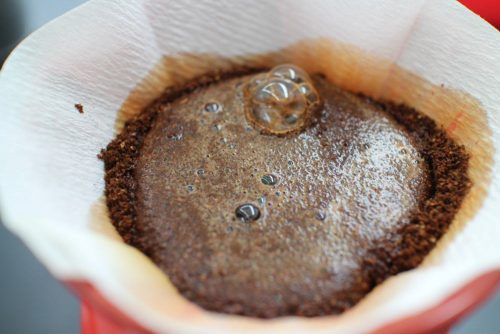 pour over coffee maker bloom