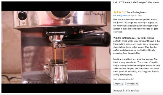 best espresso machine hello 1375 ariete