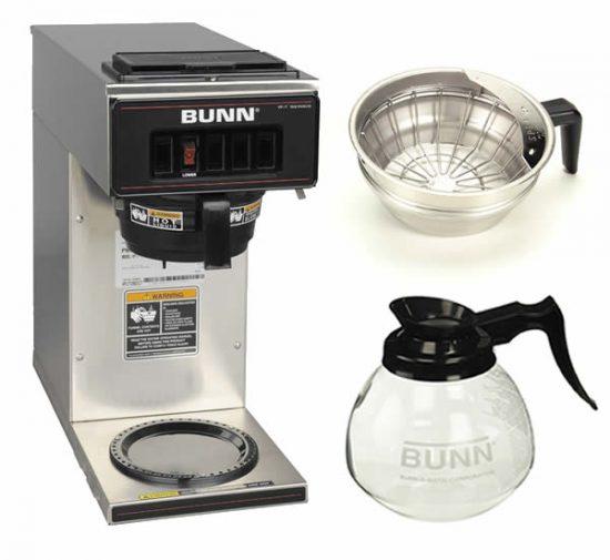 all stainless steel coffee maker bunn vp17