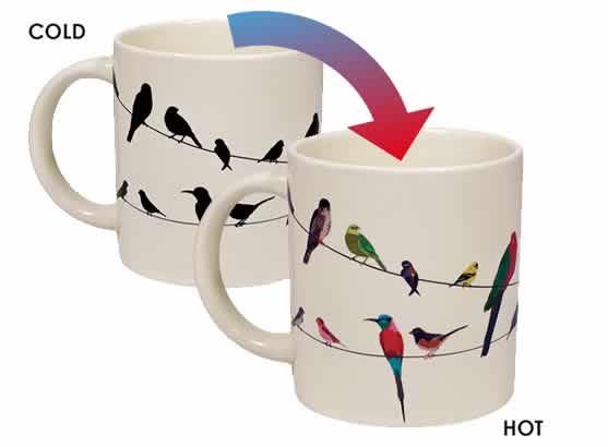 heat changing coffee mugs heat sensitive coffee mugs