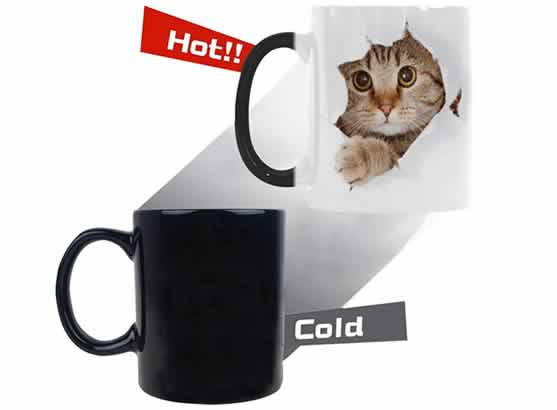 heat changing coffee mugs heat sensitive coffee mugs cat lovers