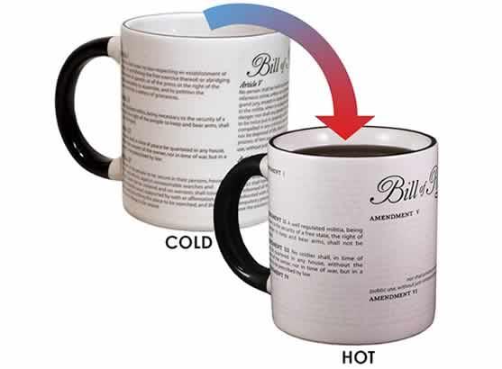 heat changing coffee mugs heat sensitive coffee mugs civil liberties funny