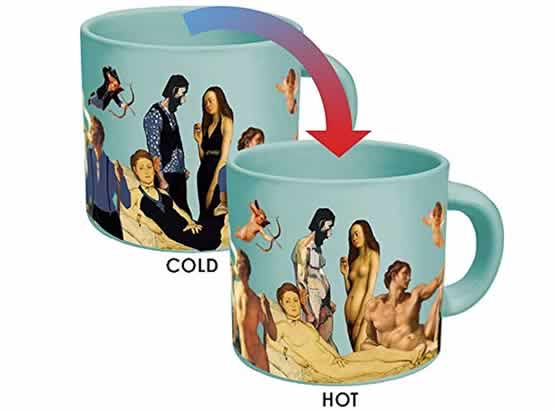 heat changing coffee mugs heat sensitive coffee mug