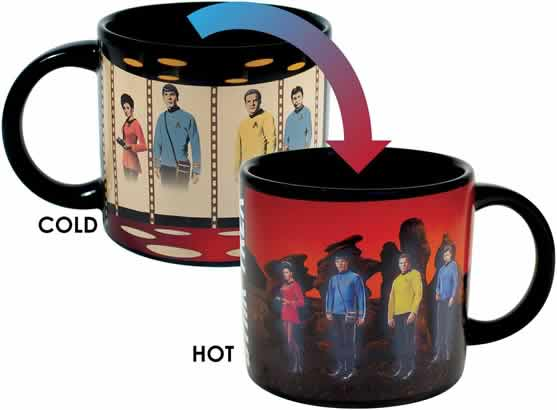 heat changing coffee mugs heat sensitive coffee mugs star trek