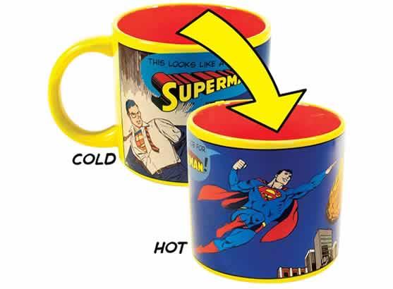 heat changing coffee mugs heat sensitive coffee mugs superman