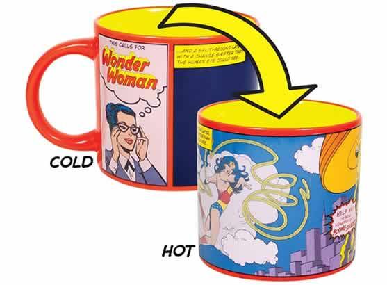 heat changing coffee mugs heat sensitive coffee mugs wonder woman diana prince